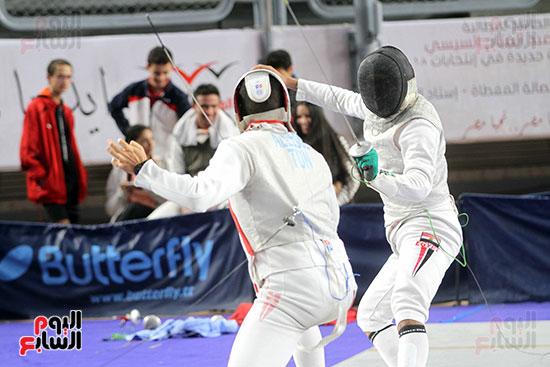 منافسات الشيش للشابات بالبطولة العربية للسلاح  (29)