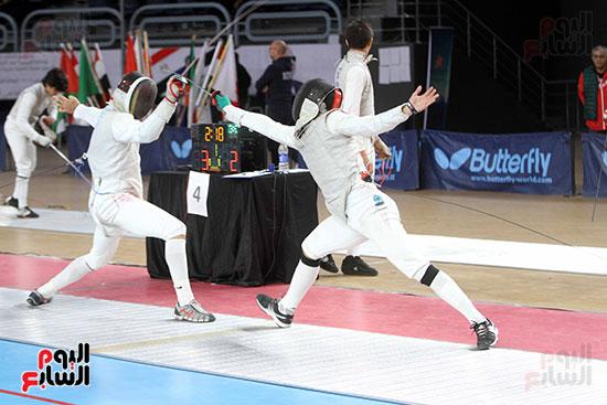 منافسات الشيش للشابات بالبطولة العربية للسلاح  (9)