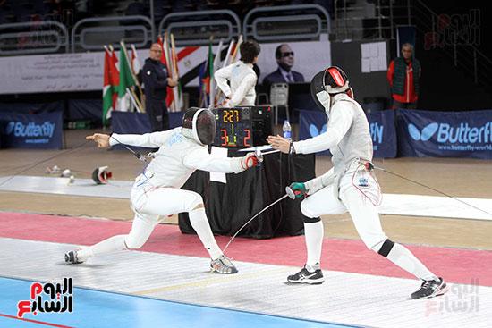 منافسات الشيش للشابات بالبطولة العربية للسلاح  (8)