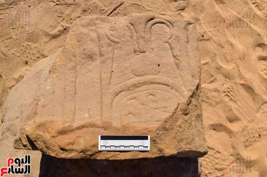 بقايا المعبد المكتشف