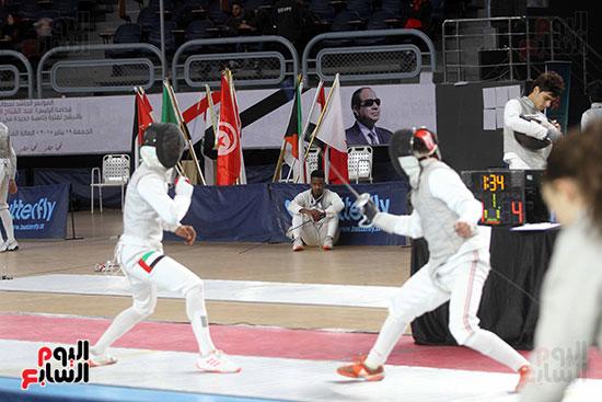 منافسات الشيش للشابات بالبطولة العربية للسلاح  (4)