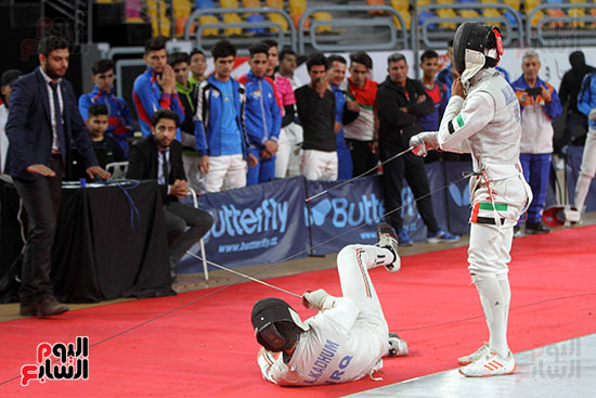 منافسات الشيش للشابات بالبطولة العربية للسلاح  (26)