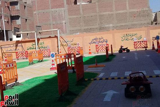 جانب من المشروع داخل ساحات المدارس بالاقصر