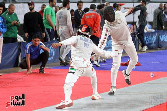 منافسات الشيش للشابات بالبطولة العربية للسلاح  (22)