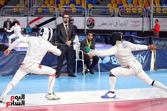 منافسات الشيش للشابات بالبطولة العربية للسلاح  (15)