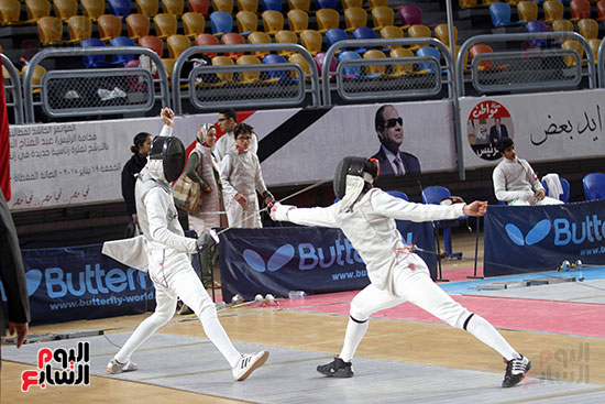 منافسات الشيش للشابات بالبطولة العربية للسلاح  (2)