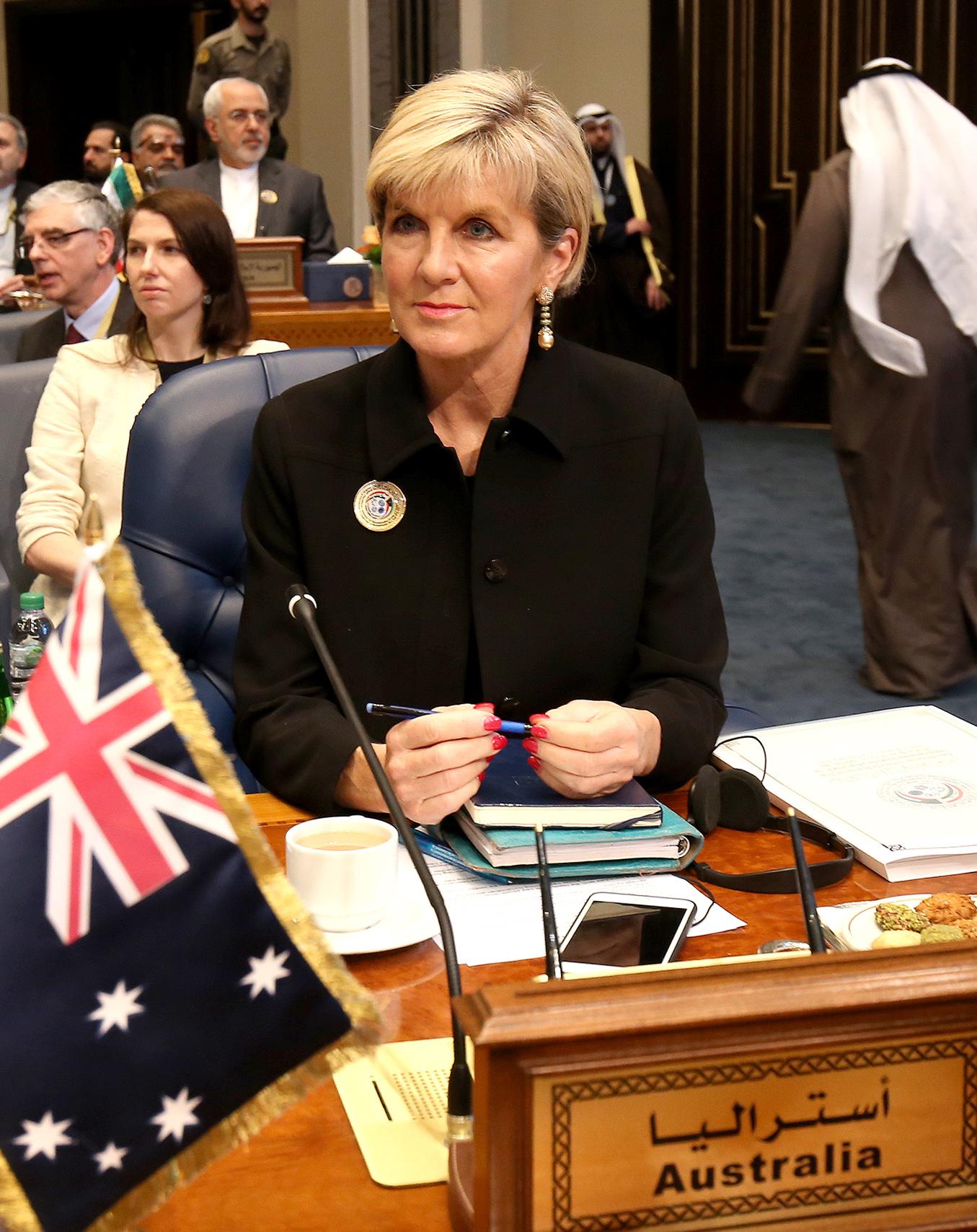 وزيرة الخارجية الاسترالية جولي بيشوب