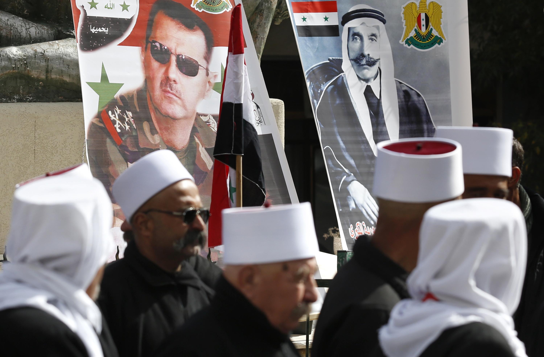 احتجاجات فى الجولان السورية