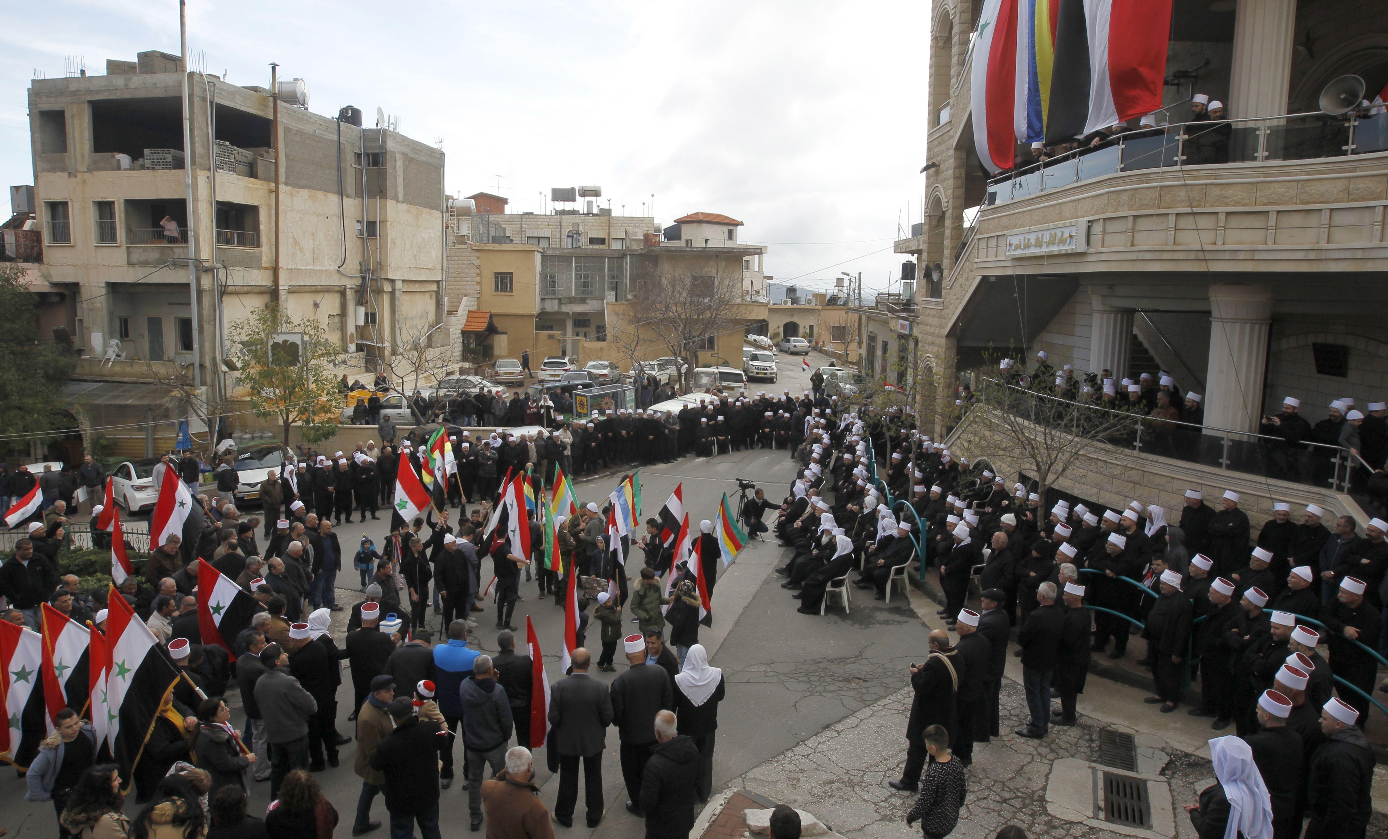 جانب من الاحتجاجات فى الجولان