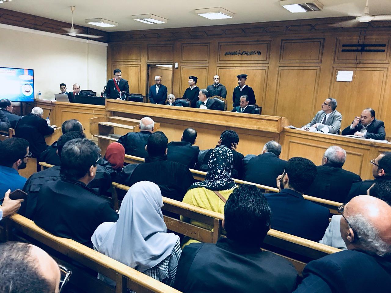هيئة المحكمة اثناء الجلسة