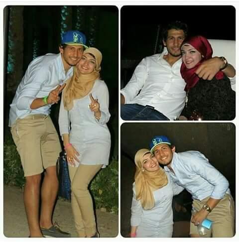 أحمد حجازى وزوجته