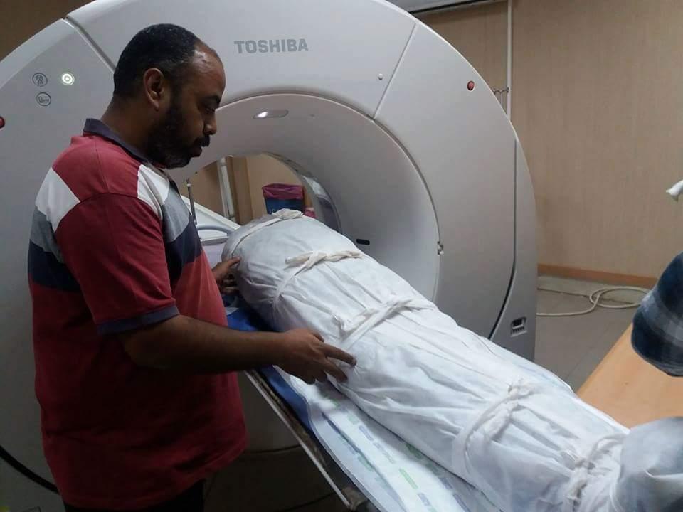 جانب من الأشعة المقطعية للمومياوات