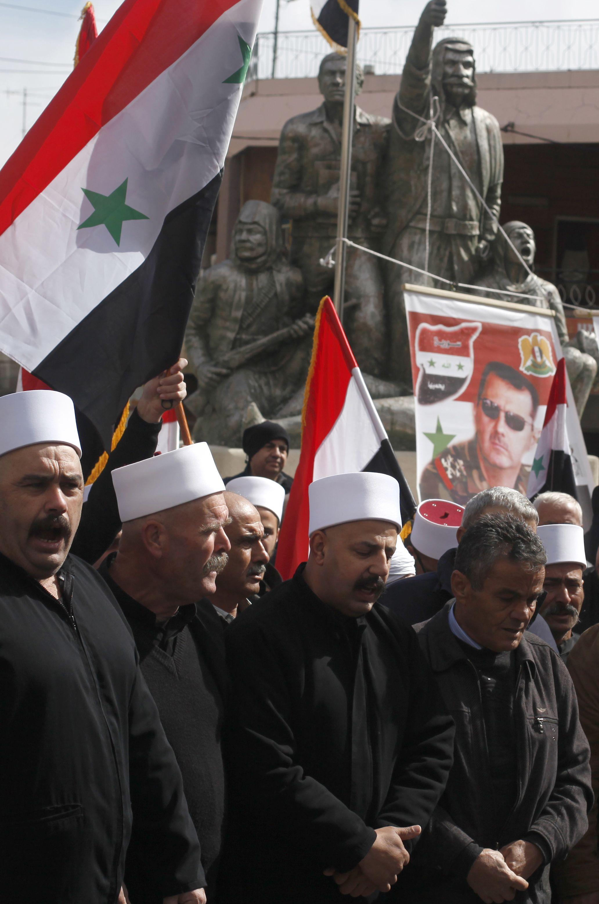 جانب من الاحتجاجات ضد الاحتلال فى الجولان