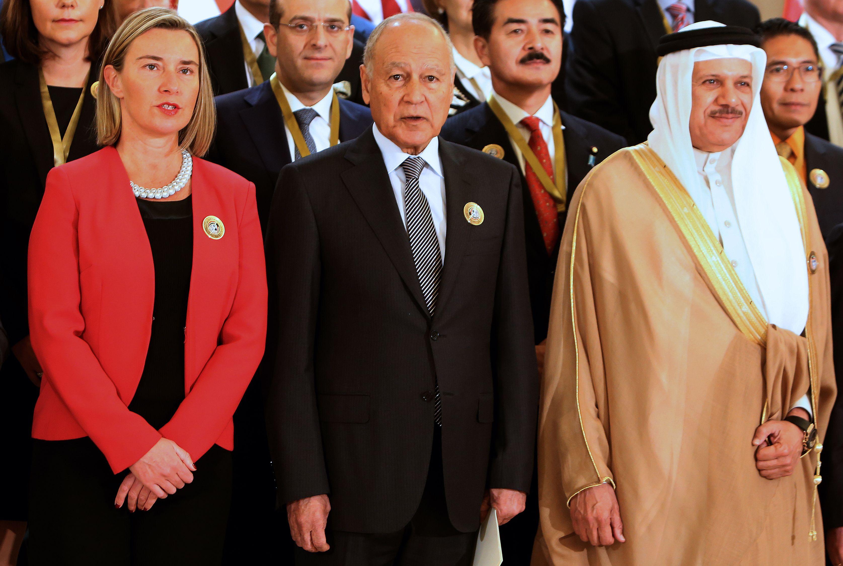 فيديريكا موجيريني و الأمين العام لجامعة الدول العربية