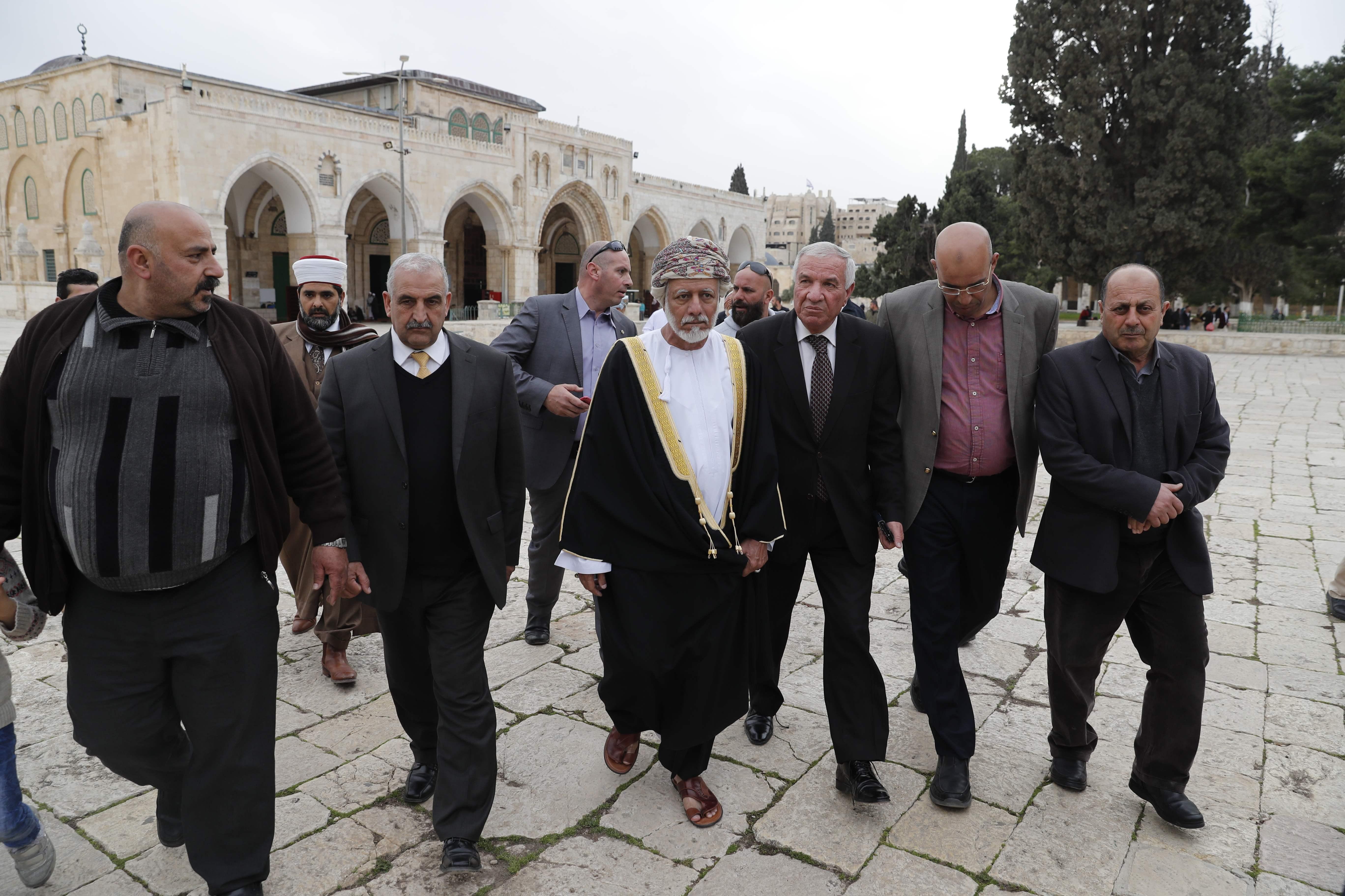 وزير الشئون الخارجية العماني في المسجد الأقصى