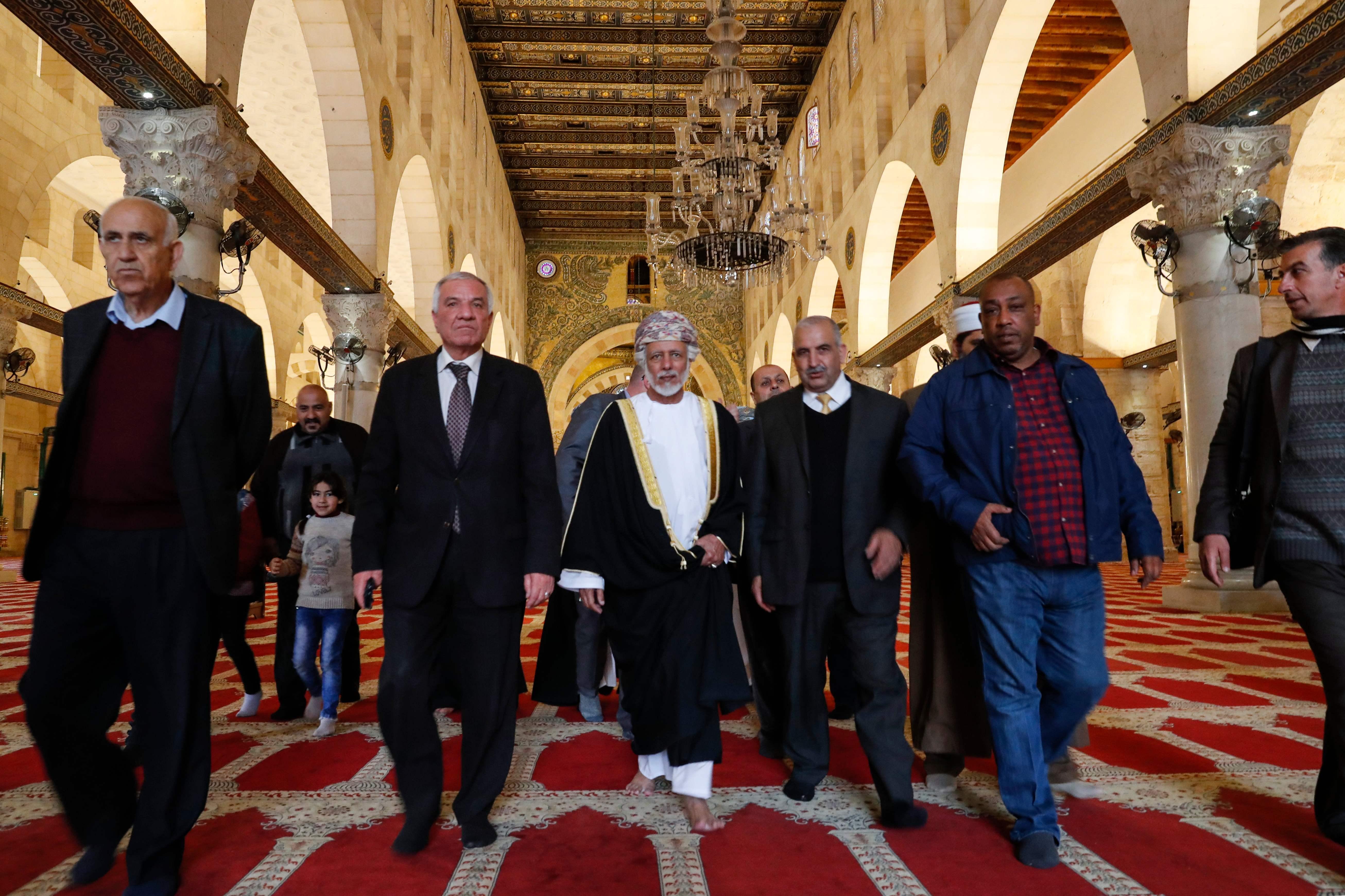 يوسف بن علوي في المسجد الأقصى