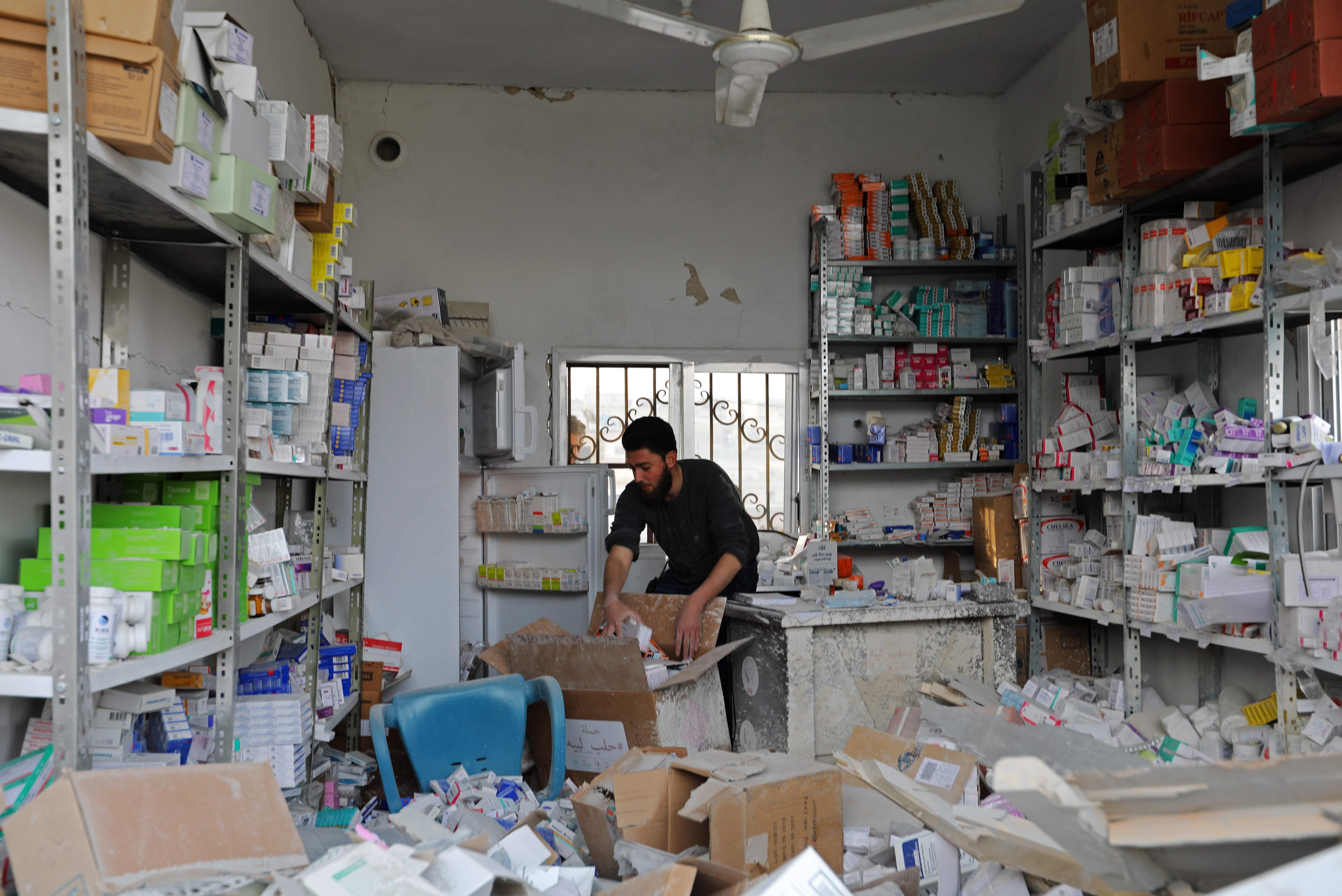 تضرر الصيدلية بالمستشفى