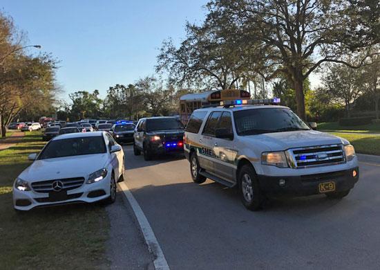 وصول الشرطة إلى موقع الحادث