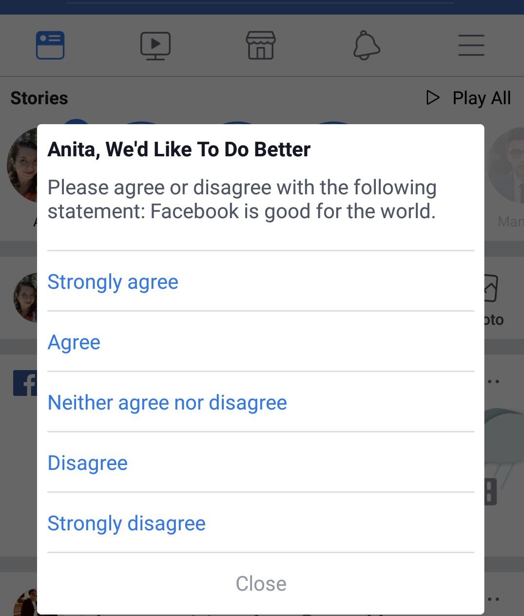 استطلاع فيس بوك