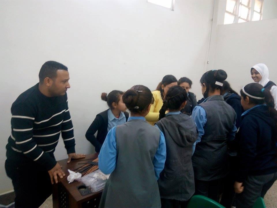 زيارة طلاب المدارس لمتحف ملوى (1)