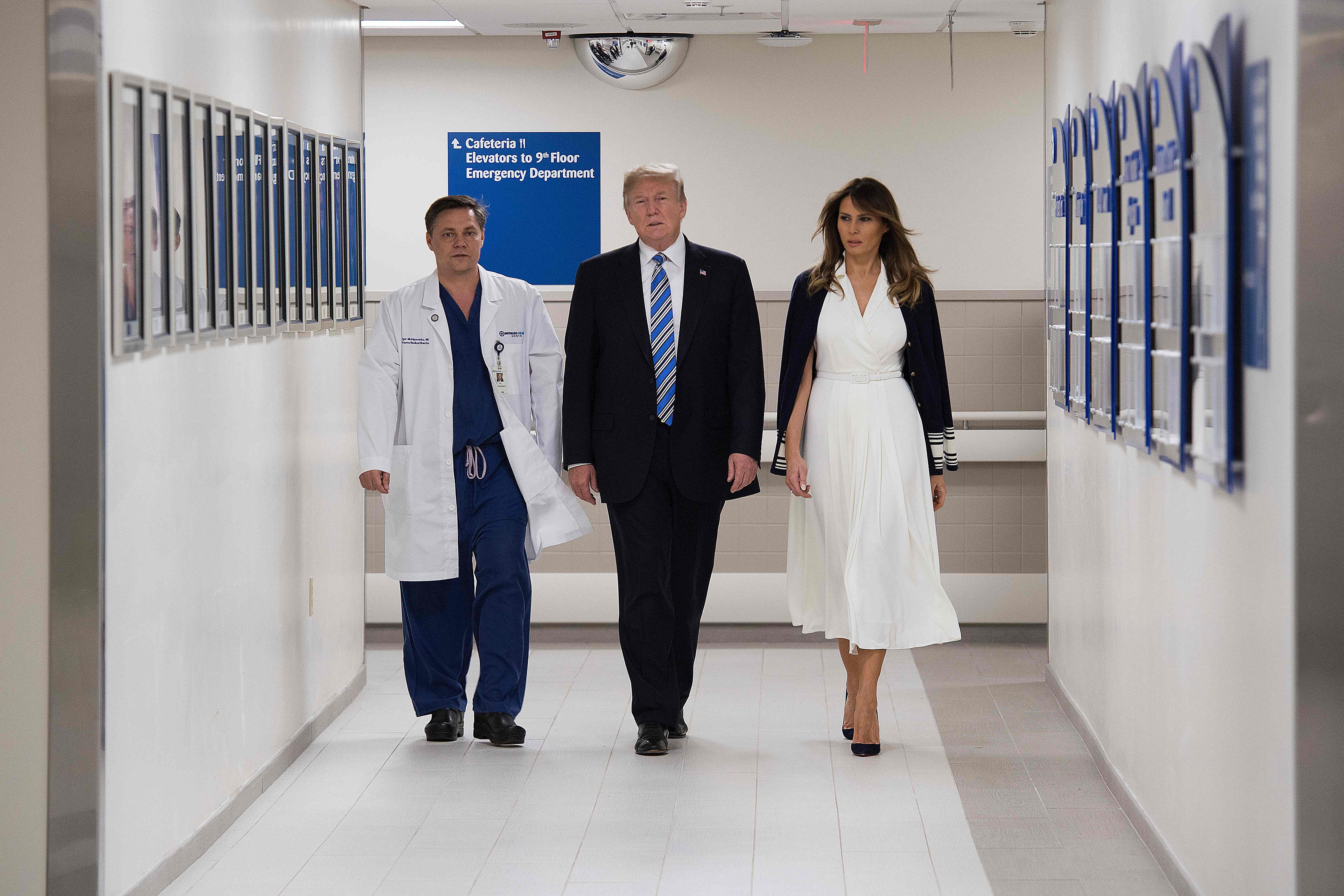 ترامب داخل المستشفى
