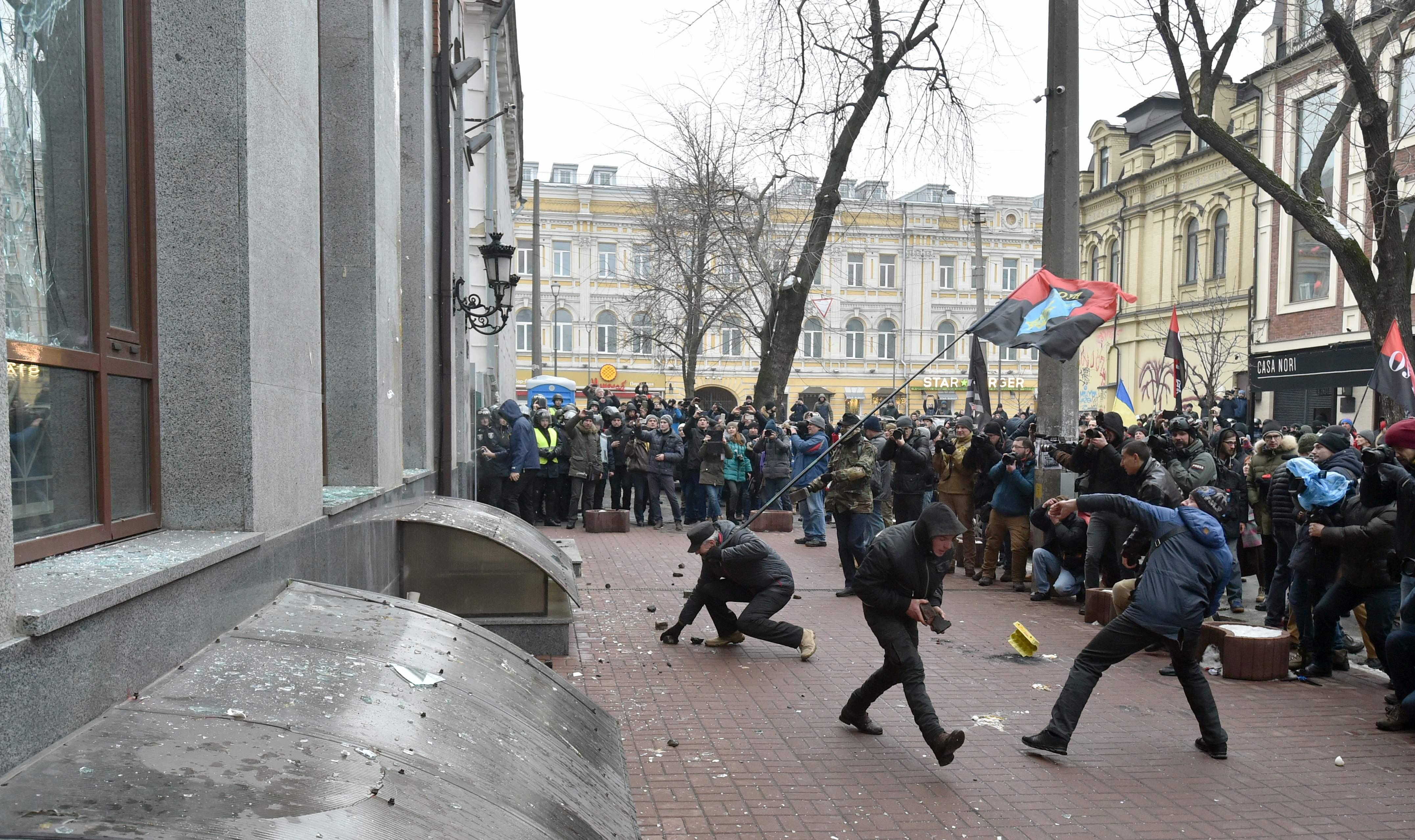 أعمال شغب بشوارع كييف