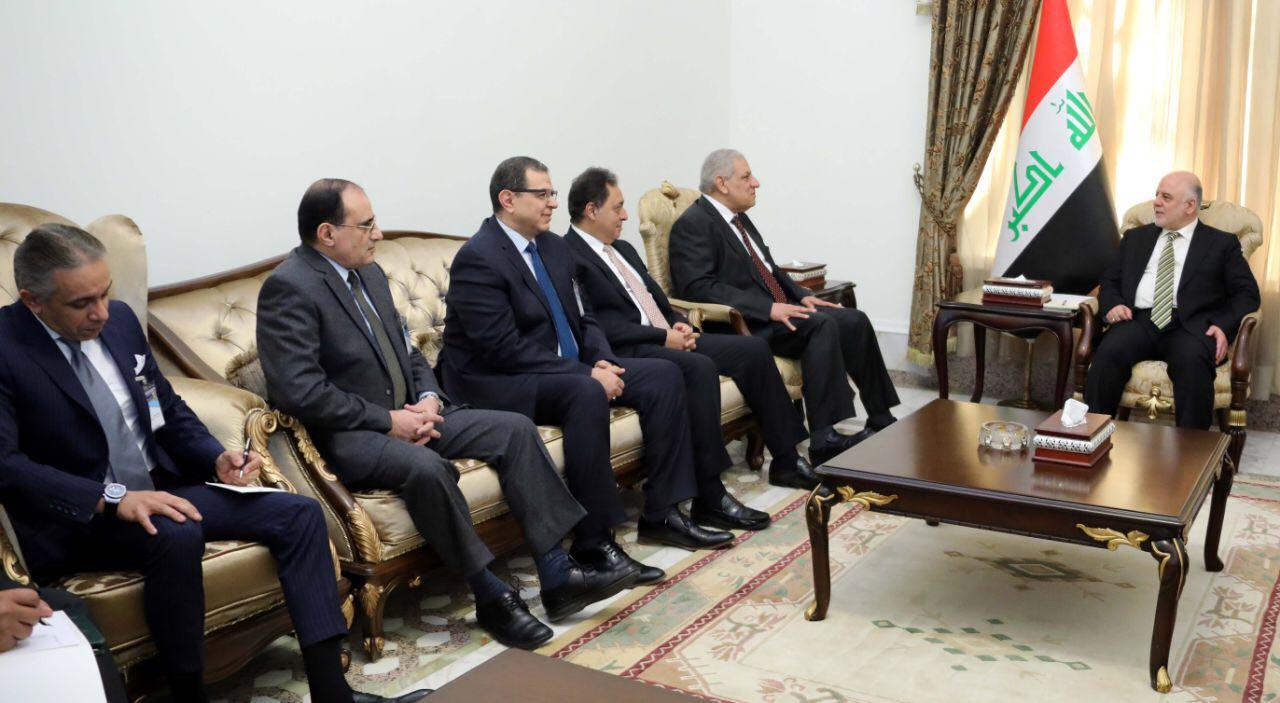 رئيس الوزراء العراقى يلتقى المهندس إبراهيم محلب والوفد المصرى المرافق له