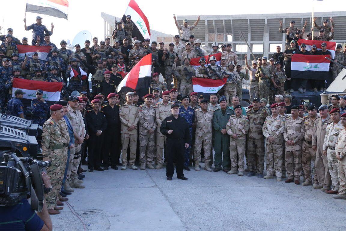 الدكتور حيدر العبادى يعلن انتصار الجيش العراقى على داعش ودحره من أراضى العراق