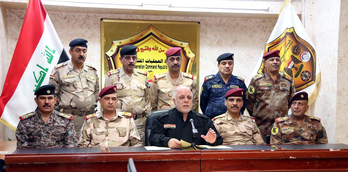 رئيس وزراء العراق الدكتور حيدر العبادى يلقى خطاب النصر على داعش