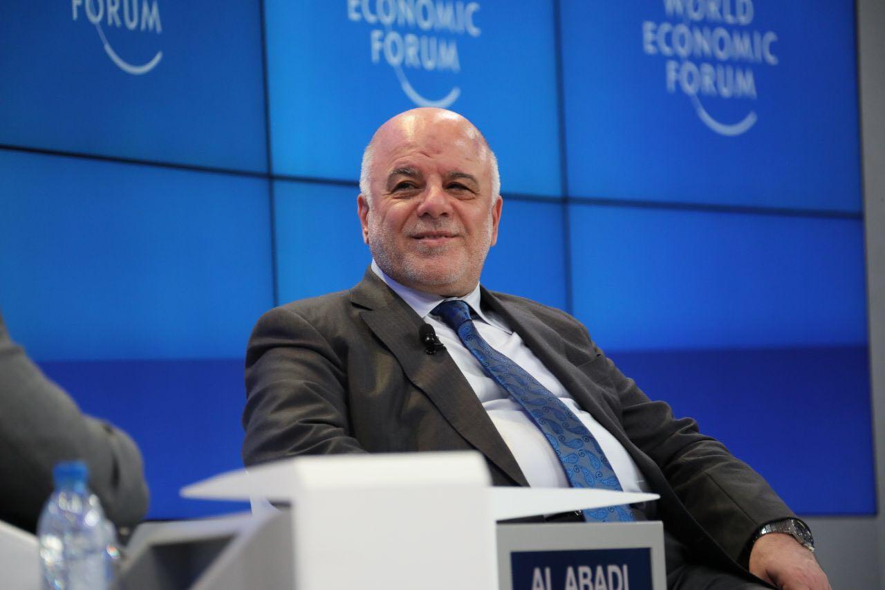 رئيس الوزراء العراقى الدكتور حيدر العبادى يتحدث لليوم السابع
