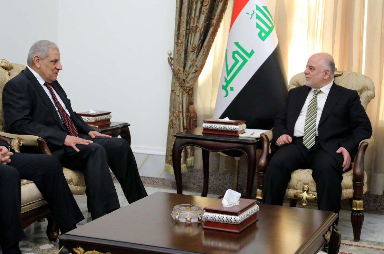 رئيس الوزراء العراقى الدكتور حيدر العبادى يلتقى المهندس إبراهيم محلب
