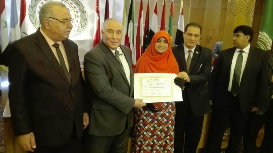 فوز طالبة أقصرية بالمركز أول عربيا فى مسابقة التحدث بالفصحى
