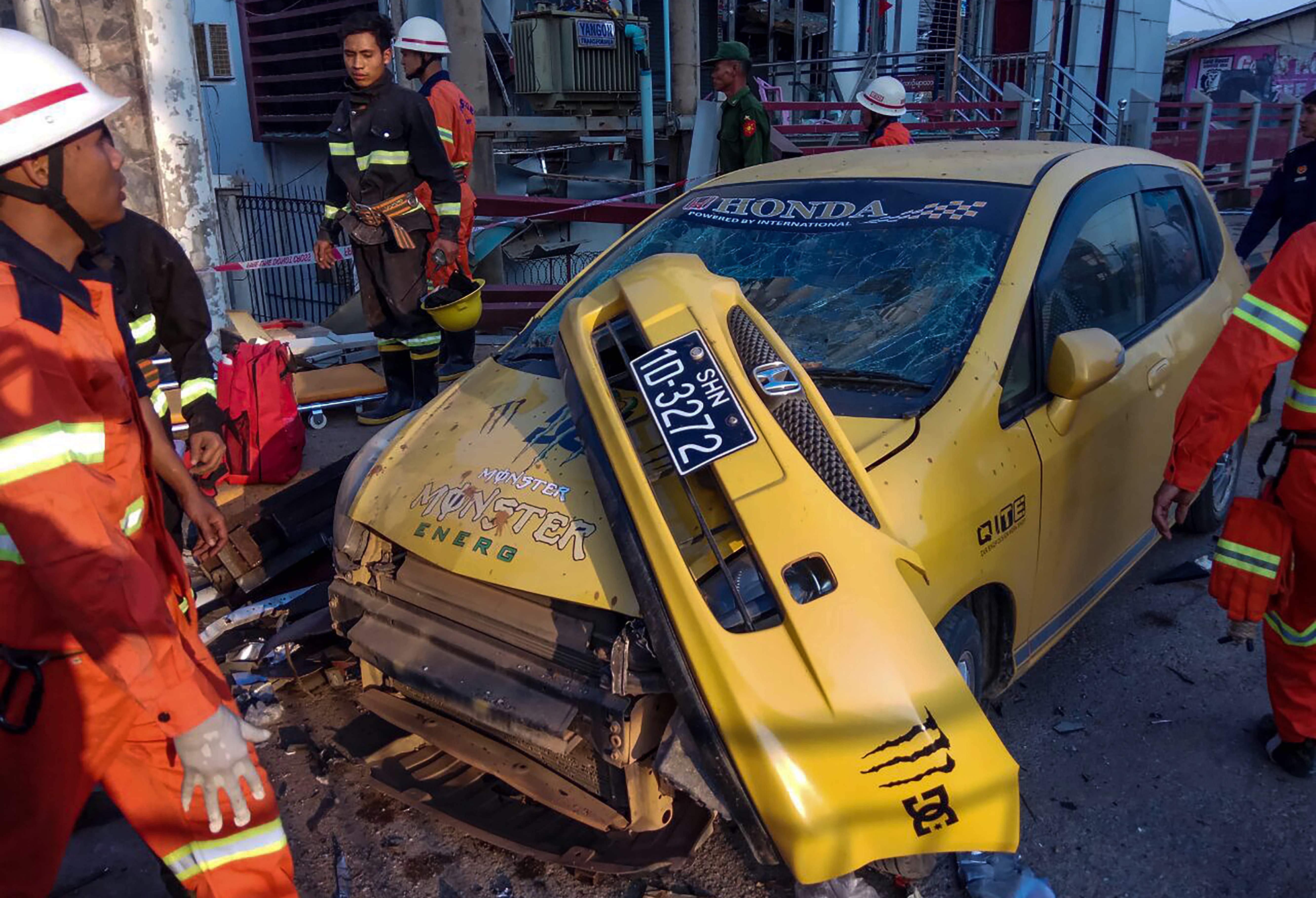 انفجار فى بورما