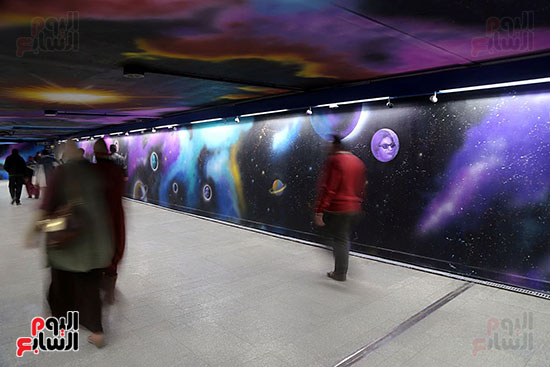صور تجديد محطة مترو الأوبرا (2)