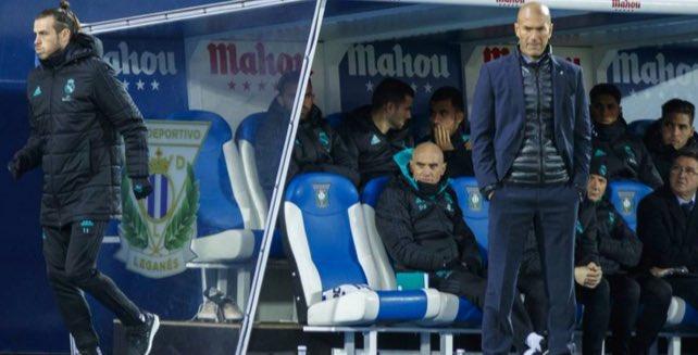 جاريث بيل يترك مقاعد بدلاء ريال مدريد فى الشوط الأول أمام ليجانيس