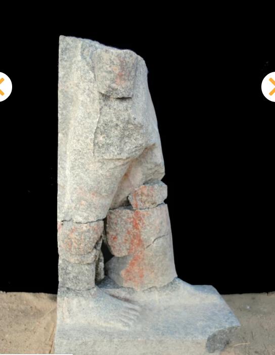 بقايا تمثال المصرى فى السودان  (4)