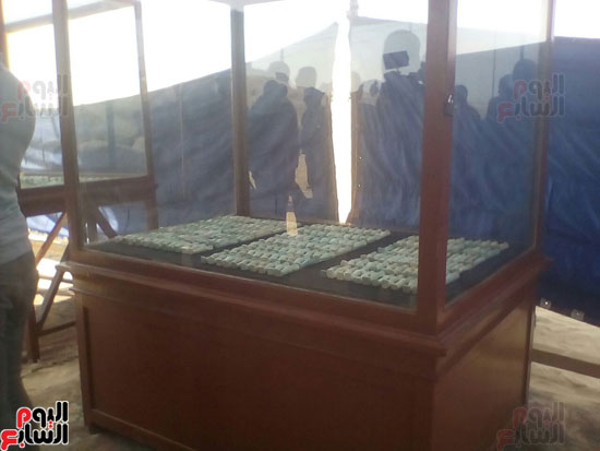 صور للمقبرة المكتشفة بالمنيا