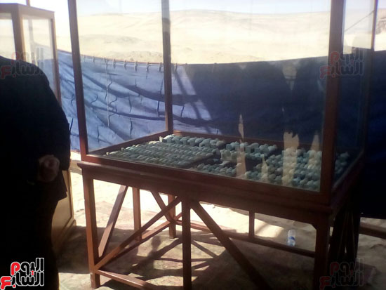 أول صور للمقبرة المكتشفة بالمنيا