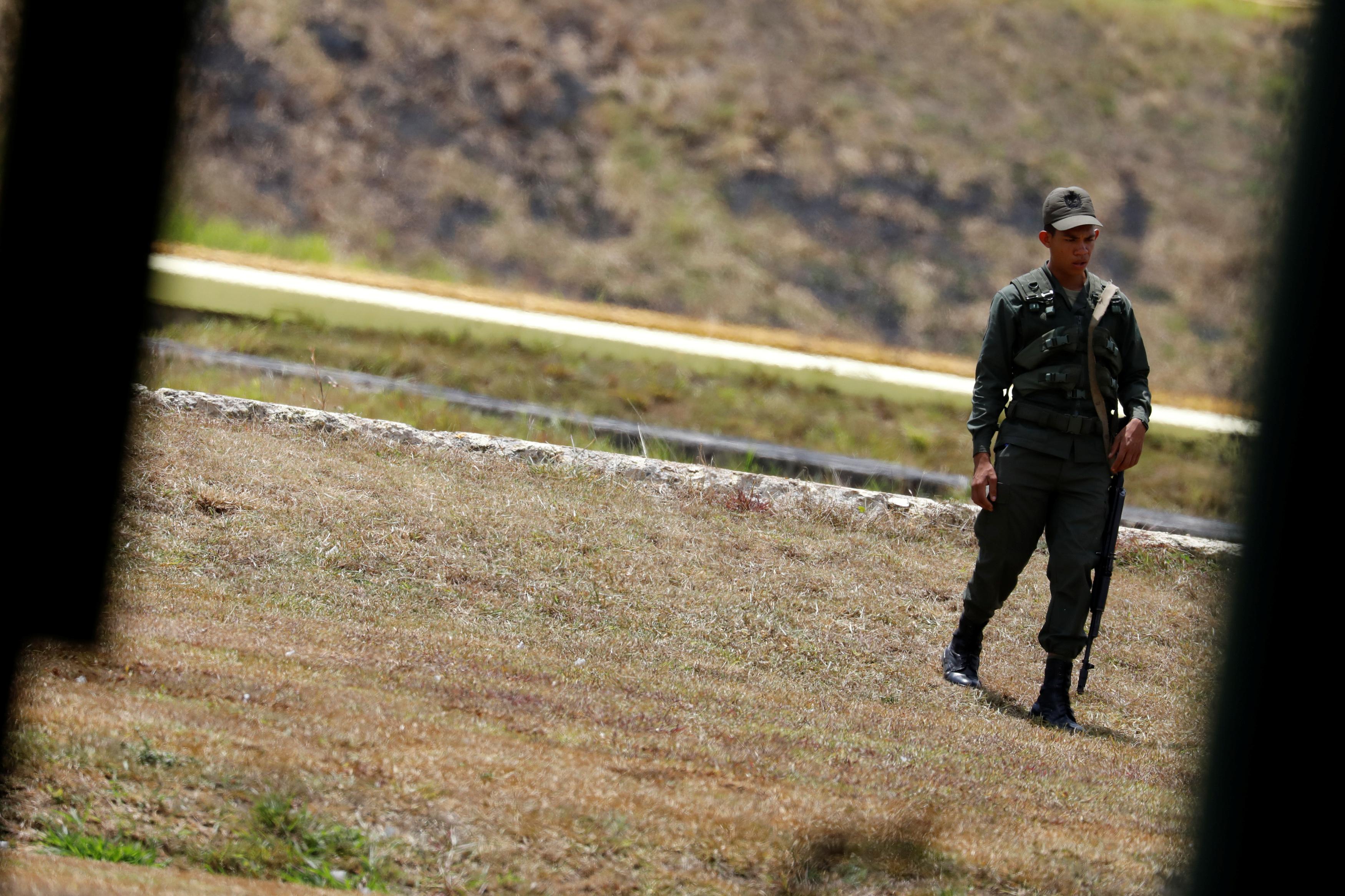 أحد جنود الجيش الفنزويلى