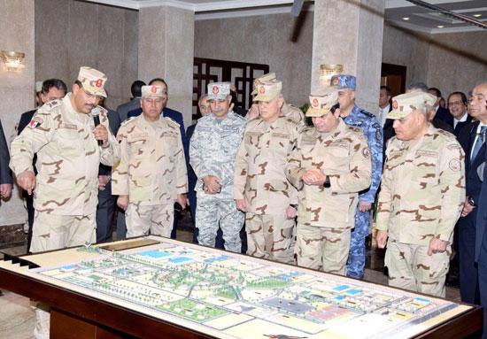 الرئيس يتابع جهود العملية سيناء 2018
