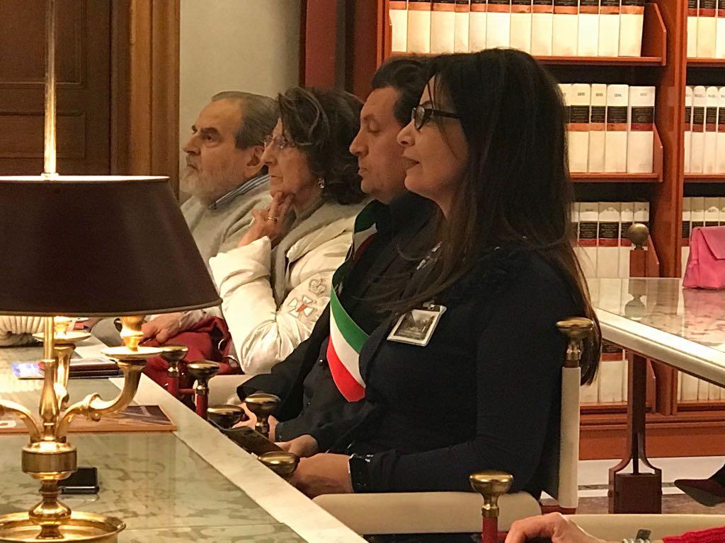 مجلس الشيوخ الإيطالى يمنح جائزة الحوار الأوروبى لـ جيهان زكى (2)