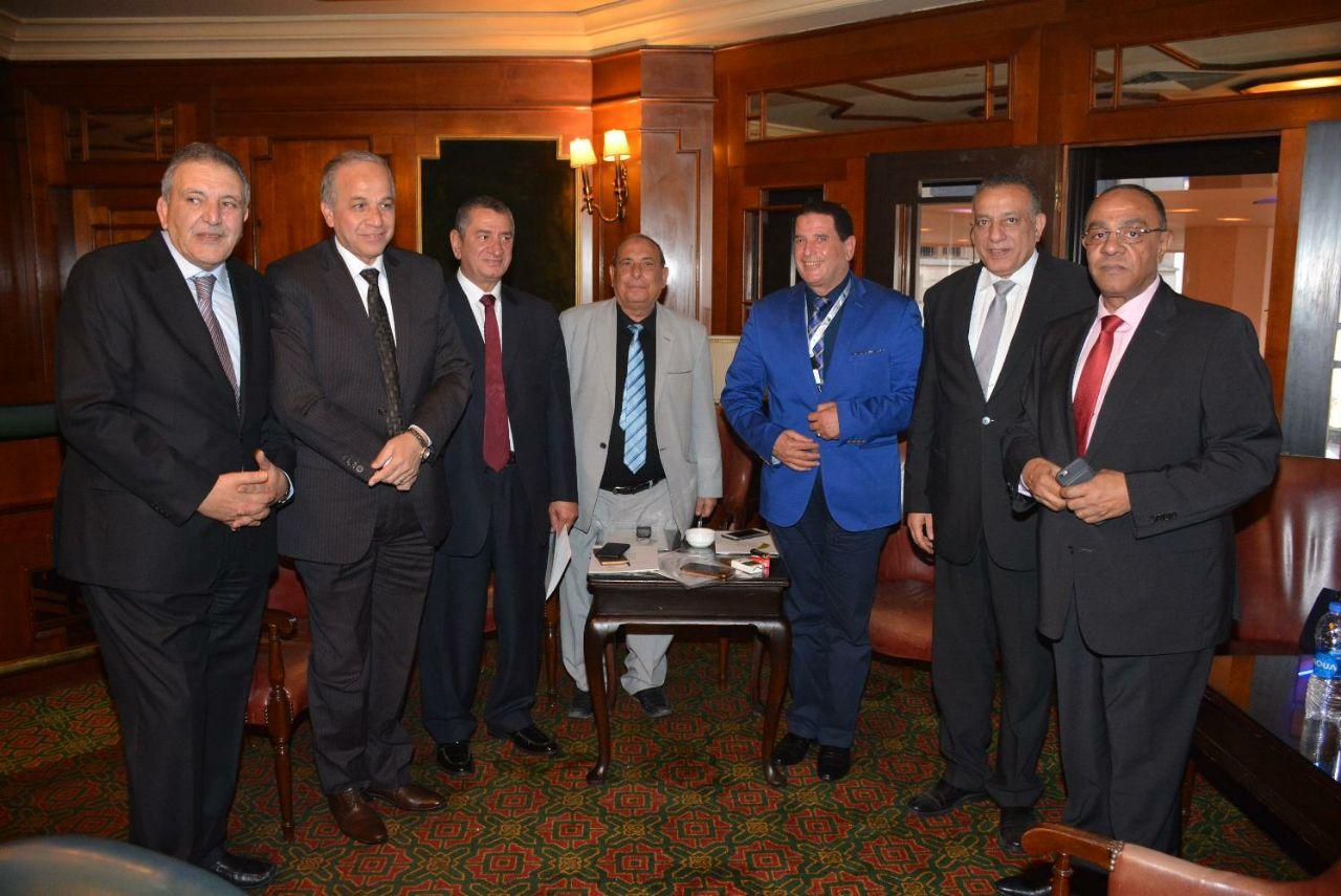 جانب من حضور المحافظ وبعض أعضاء وفد كفر الشيخ
