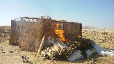 الجيش الثالث الميدانى يدمر 16 وكرا للعناصر التكفيرية بوسط سيناء (1)