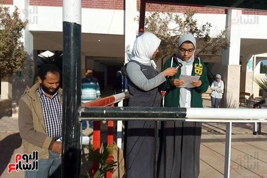 الاذاعة المدرسية تنطلق بمدارس مصر