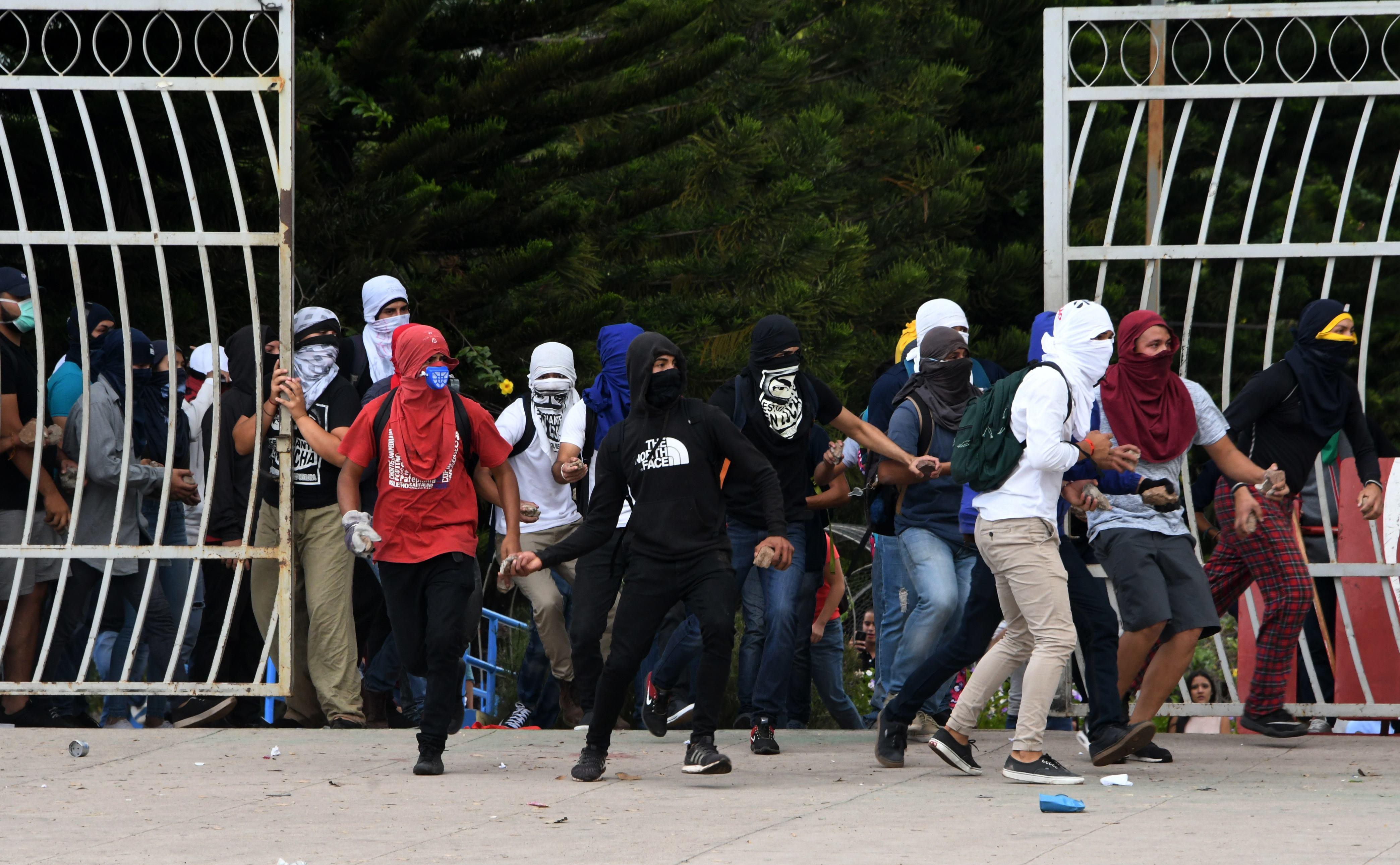 جانب من الاحتجاجات فى هندوراس