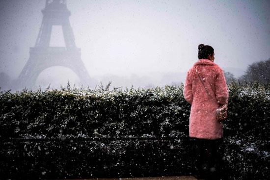تساقط كثيف للثلوج فى فرنسا