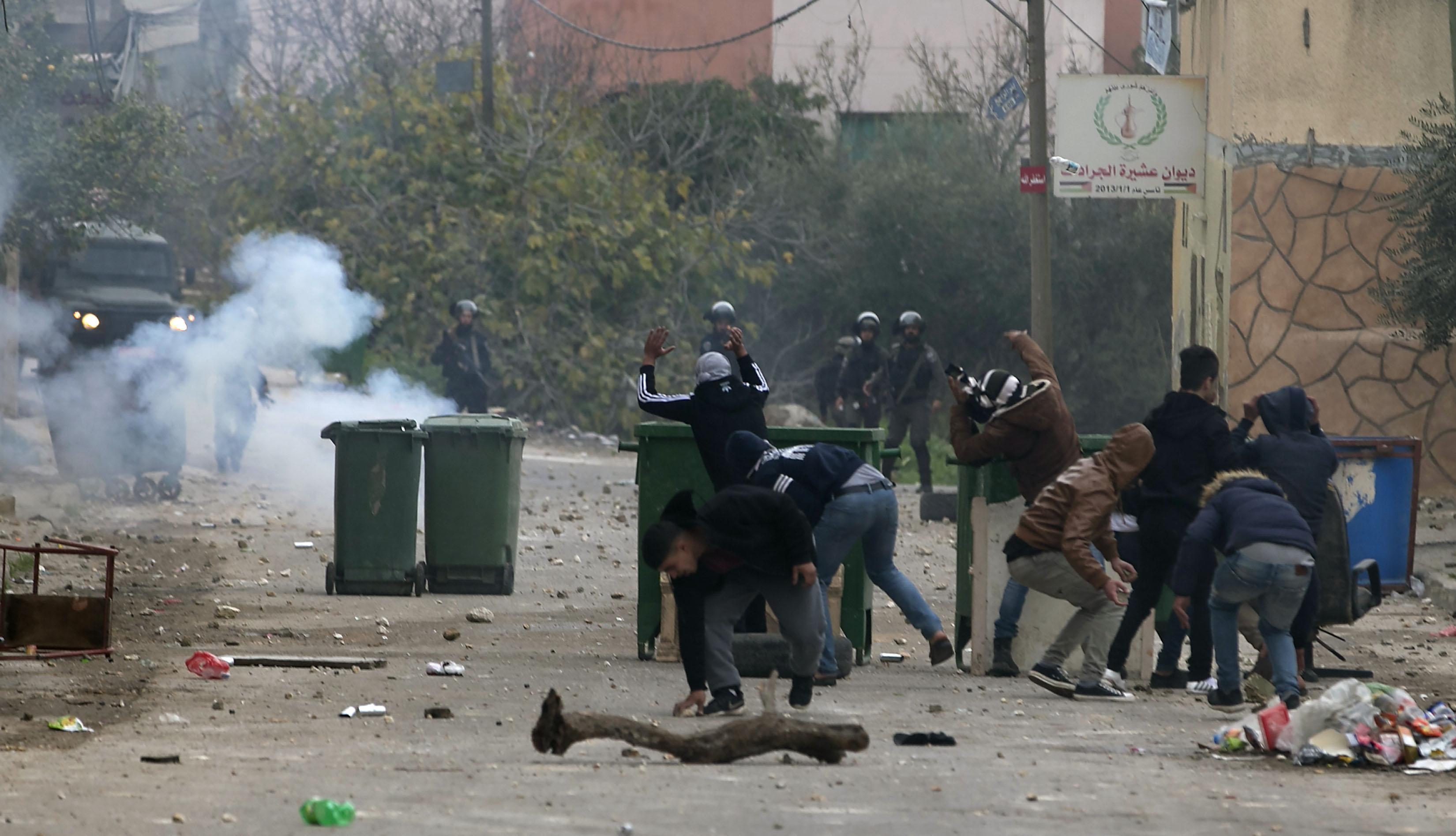 الشرطة الإسرائيلية تقمع مظاهرات فلسطينية بالضفة الغربية