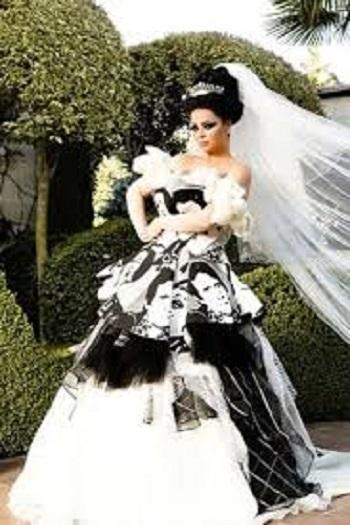 فستان زفاف بصور العندليب