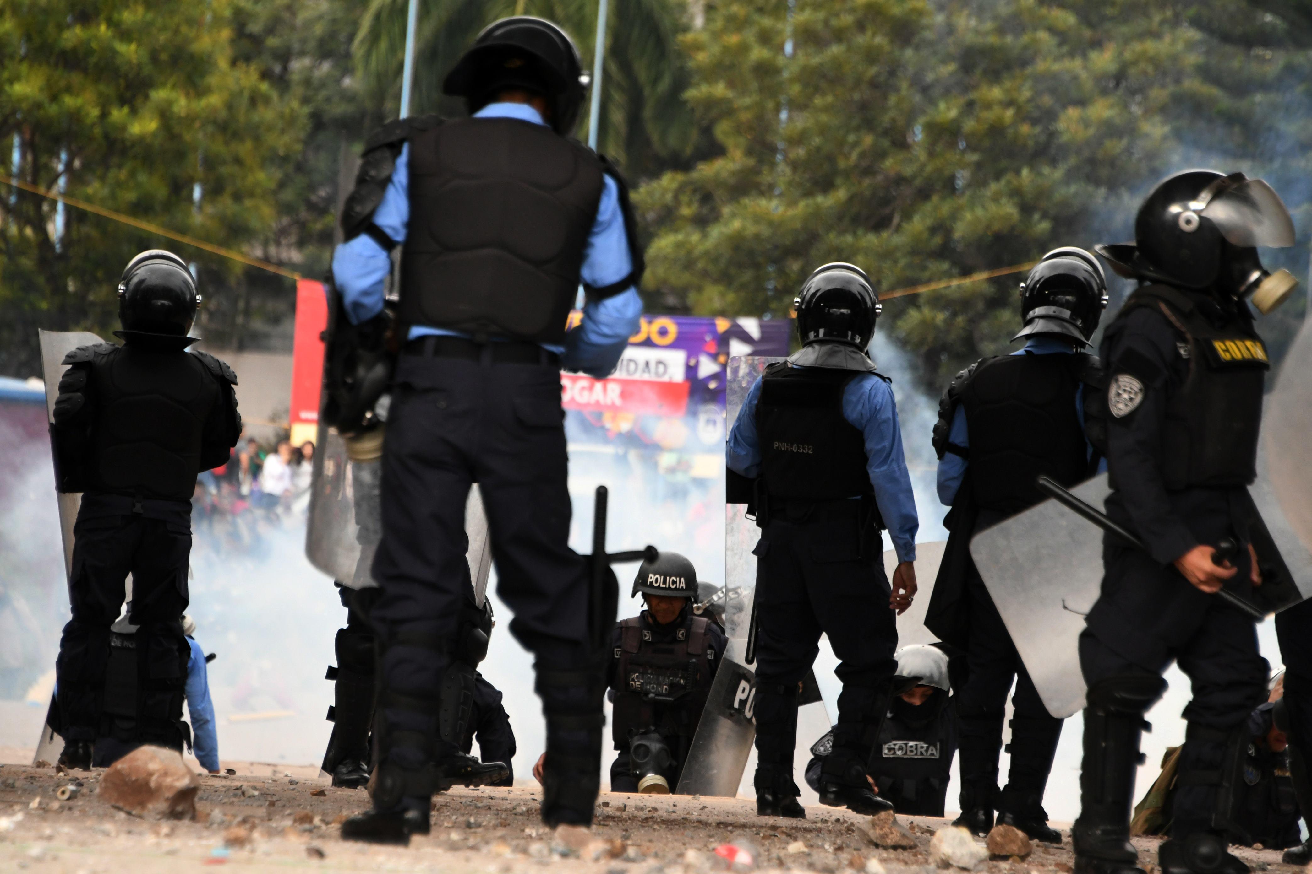 قوات الشرطة فى هندوراس