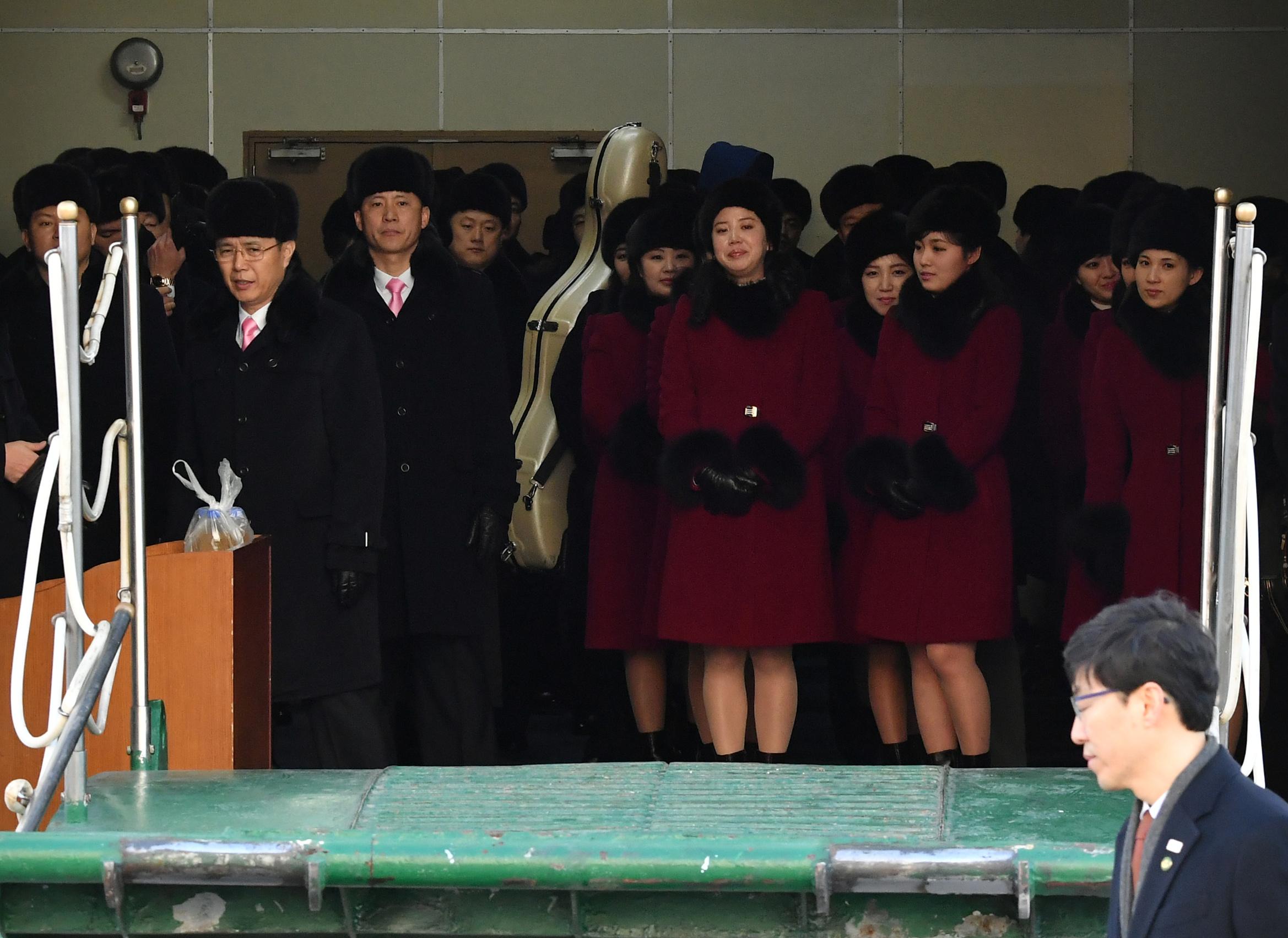 وفد كوريا الشمالية الأولمبى